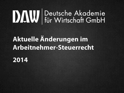 Aktuelle Änderungen 2014 BMF-Schreiben Reisekostenrecht 24.10.2014