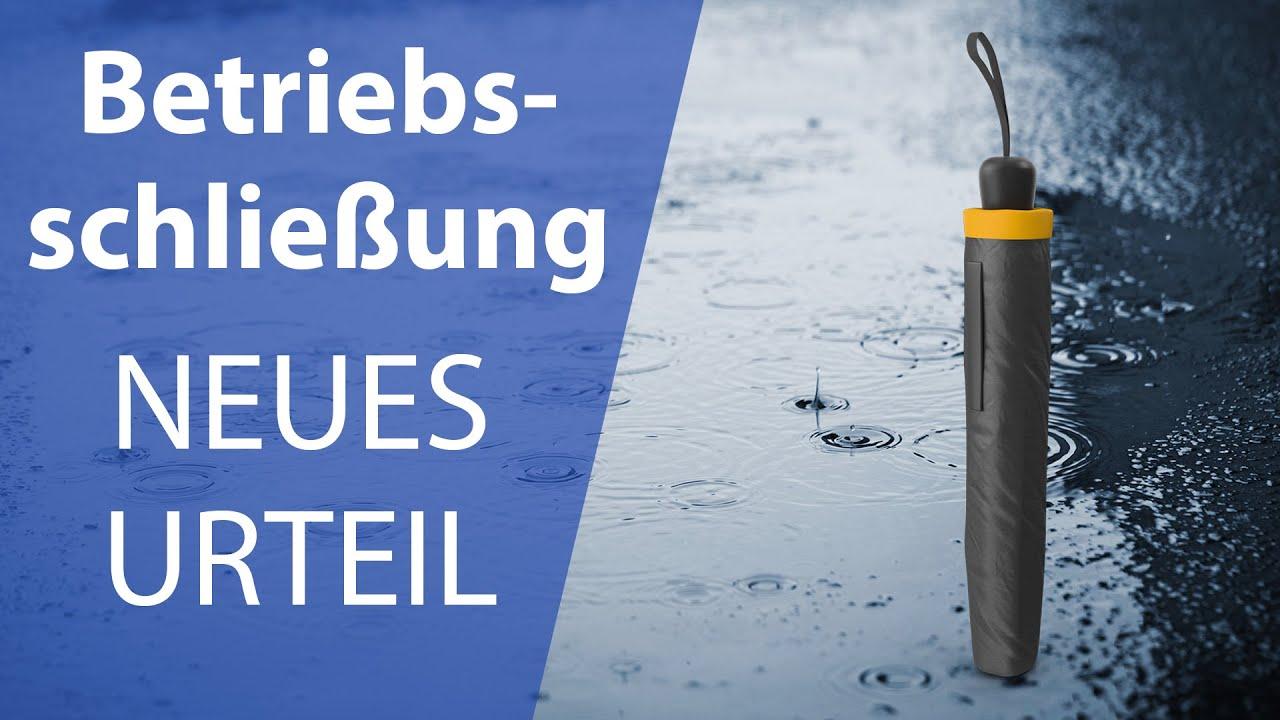 Betriebsunterbrechung MUSS ausgezahlt werden! NEUES URTEIL Betriebsschließungsversicherung