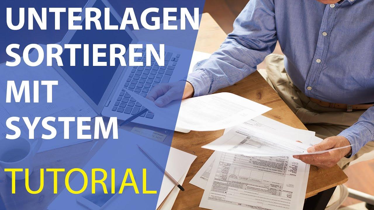 Steuerunterlagen professionell sortieren (TUTORIAL) Steuerberater erklärt