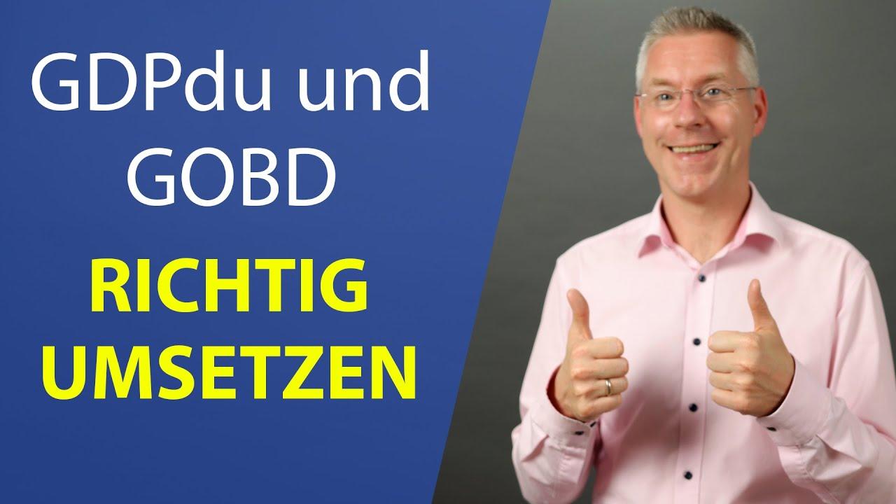 GDPdU und GoBD einfach erklärt I Steuerberater erklärt