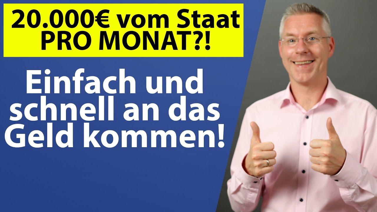 Bis zu 20.000€ staatliche Förderung PRO MONAT?! Geld für Corona-Umbaumaßnahmen und Digitalisierung